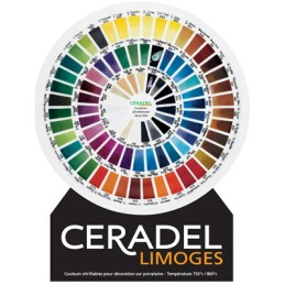 PRESENTOIR CARTONNE COULEURS CERADEL PB