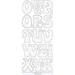 STICKER GDES LETTRES (OàZ) 3211