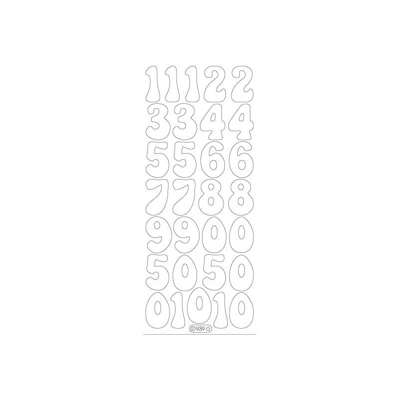 STICKER GRDS CHIFFRES 939
