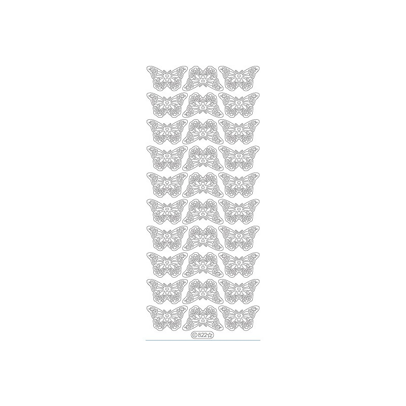 STICKER PAPILLON PT MODELE 822