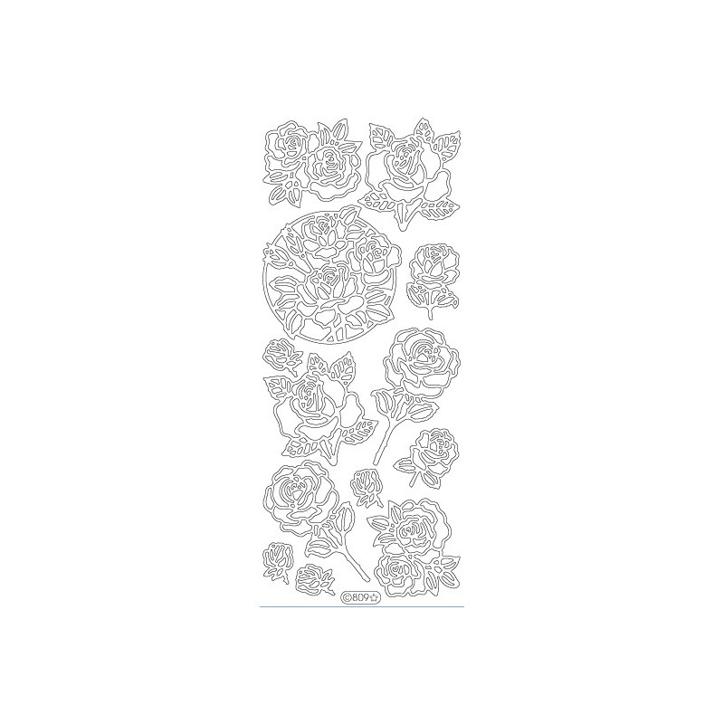 STICKER ROSE 809
