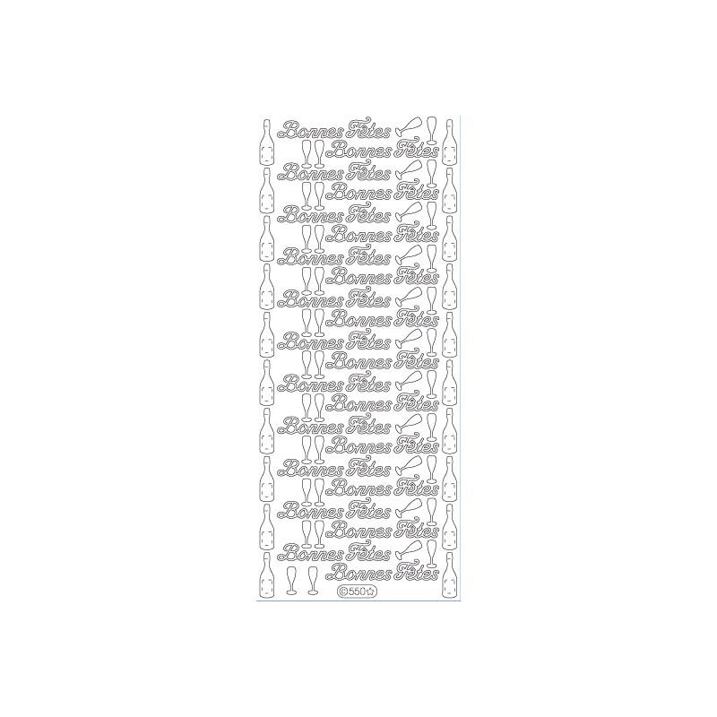 STICKER BONNES FETES 550