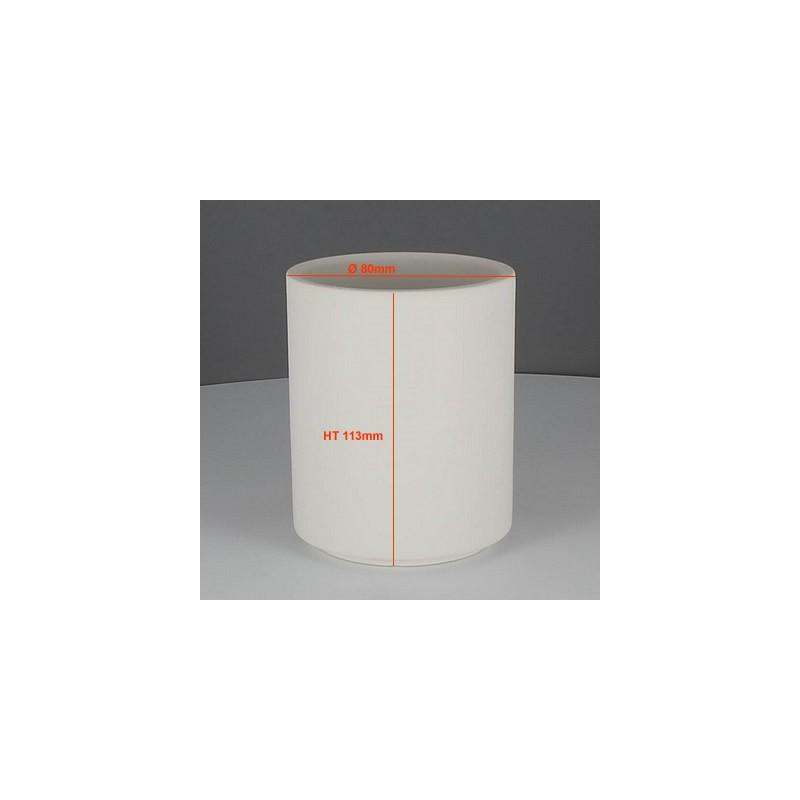 BISCUIT PORTE CRAYONS (Ø8CM) H 11.3CM