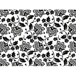 FLORENTINA BLACK ON WHITE CHINTZ DIM.50X70CM
