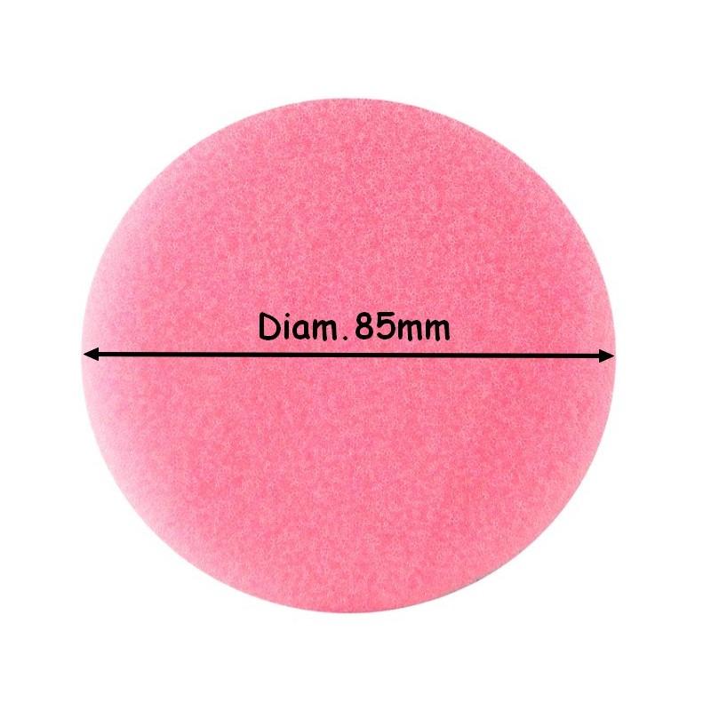 DISQUE MOUSSE DIAM.85mm ROSE