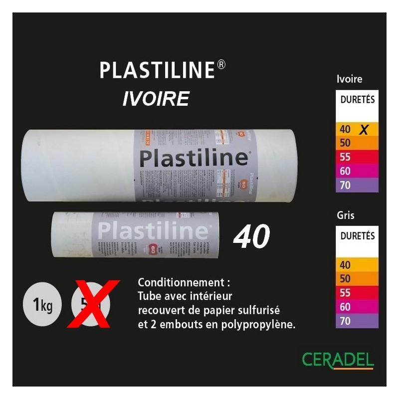Plastiline 1kg Ivoire dureté 40/Trés souple