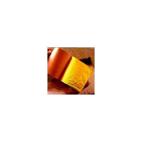 FEUILLES D'OR ROUGE DIM.80X80mm/Carnet 25Feuilles 23 carats