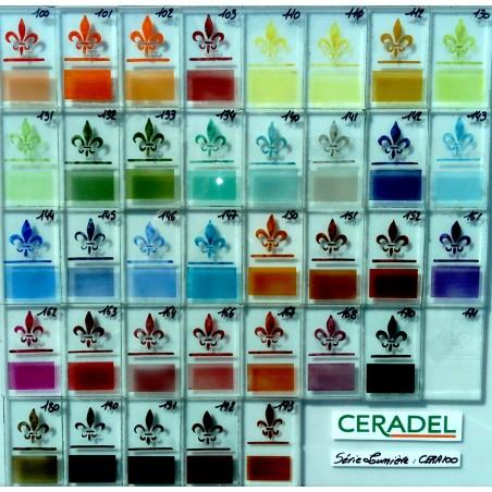 *CERA 111/F3162 JAUNE Email Transparent-Verre 600°C