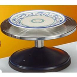 TOURNETTE TABLE CHROMEE DIAM 250