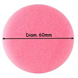 DISQUE MOUSSE DIAM.60mm ROSE