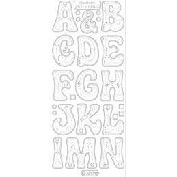 STICKER GDES LETTRES (AàN) 3210