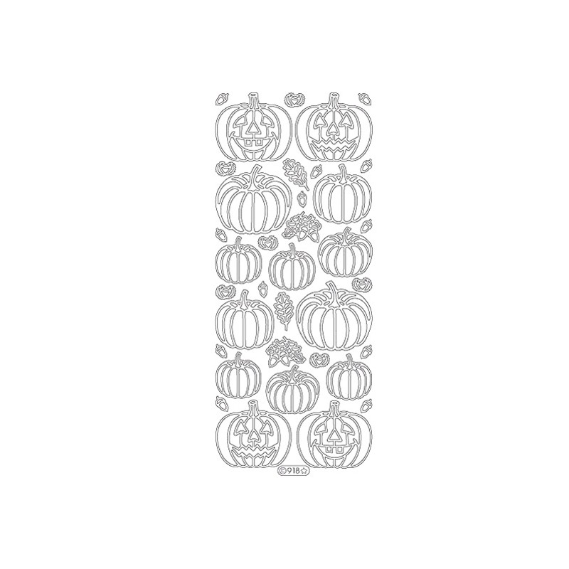 STICKER HALLOWEEN CITROUILLE 918