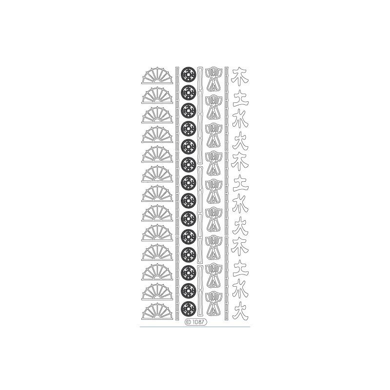 STICKER EVENTAIL KIMONO 1087