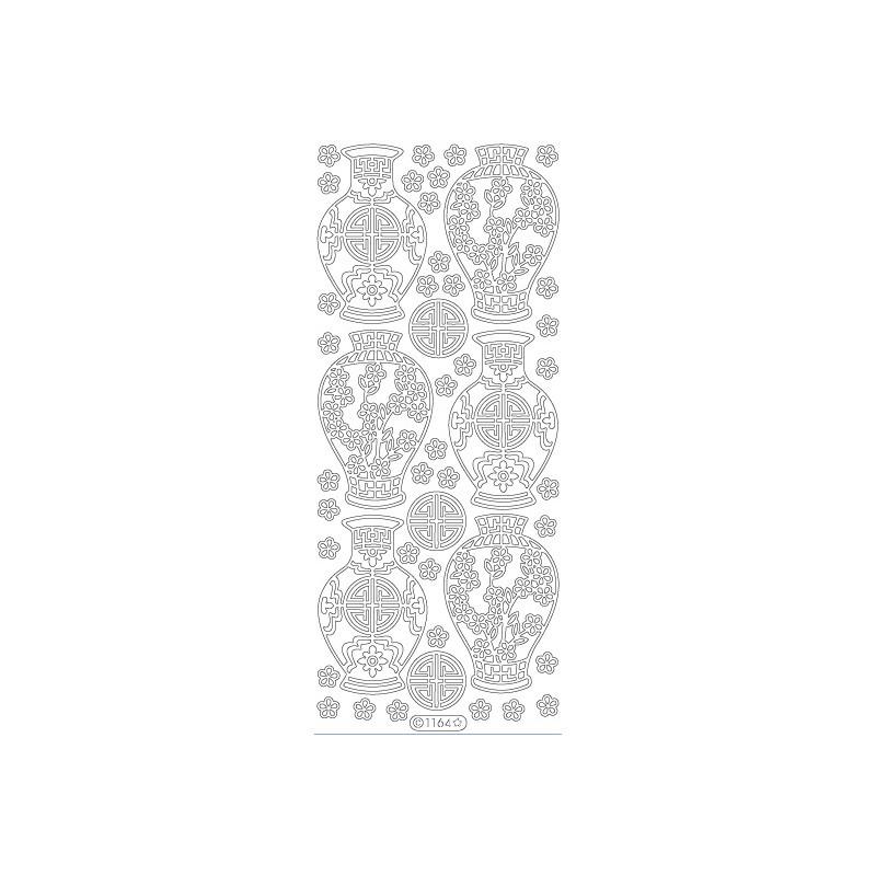 STICKER VASE ORIENTAL 1164