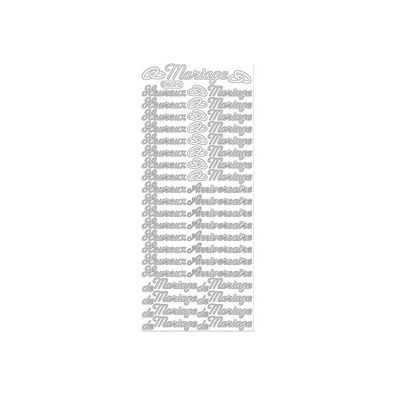 STICKER ANNIV/MARIAGE 502