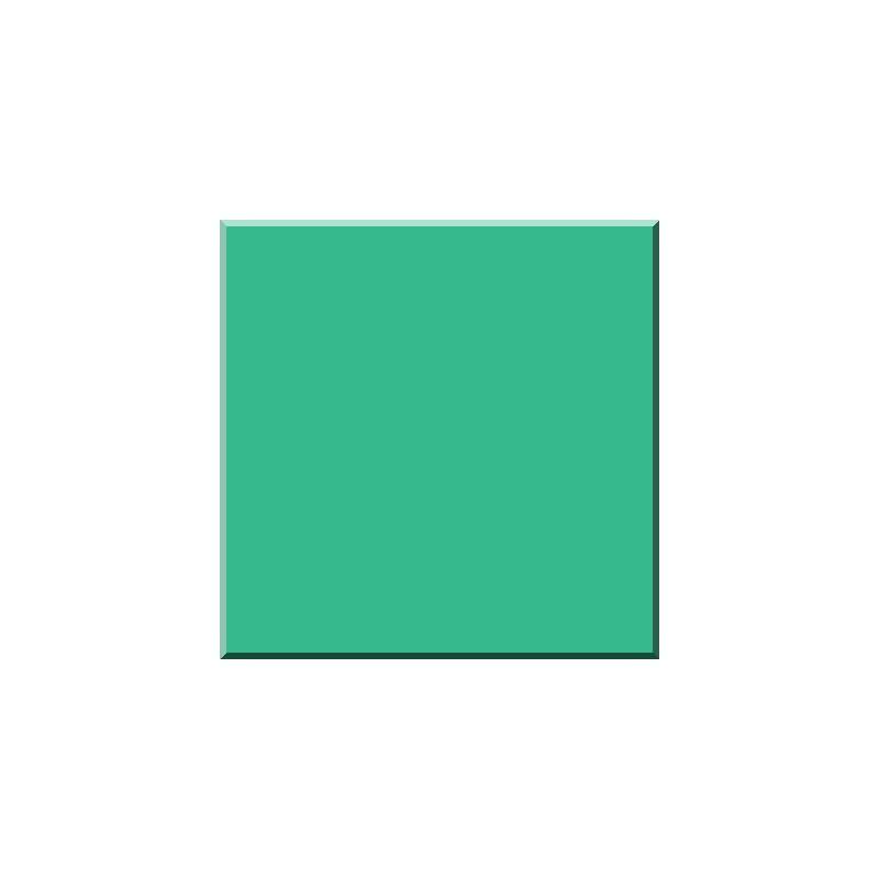 F_1447 VERT BLEU Email Transparent-Verre 600°C