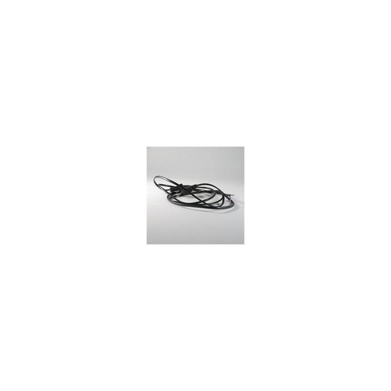 Cable d'alimentation Noir 2 fils
