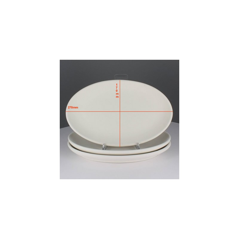 BISCUIT ASSIETTE OVALE COUPE (27X20CM)