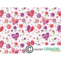 LOVE HEARTS CHINTZ DIM.50X70**