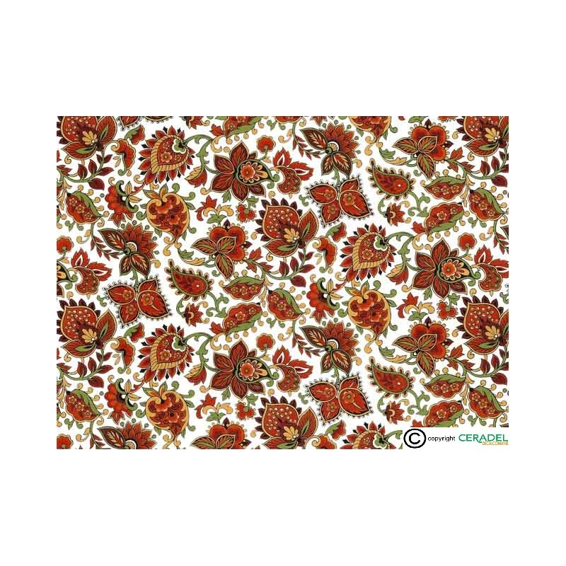 PAISLEY RED CHINTZ DIM.50X70