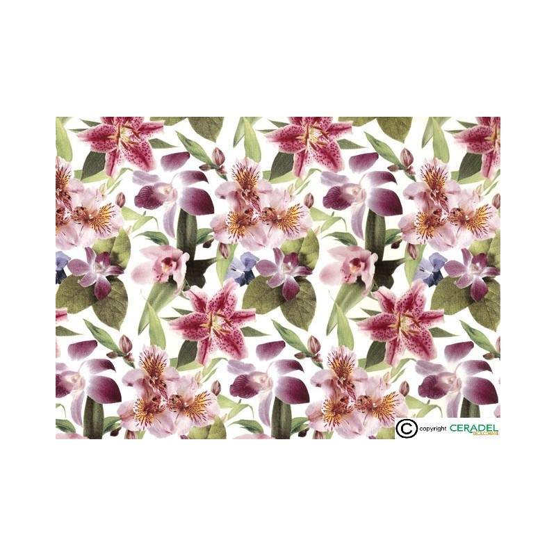 LILLIES CHINTZ DIM.50X70