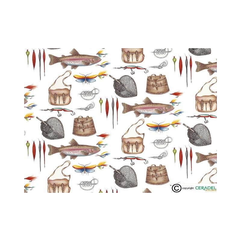 FISHING CHINTZ DIM.50X70