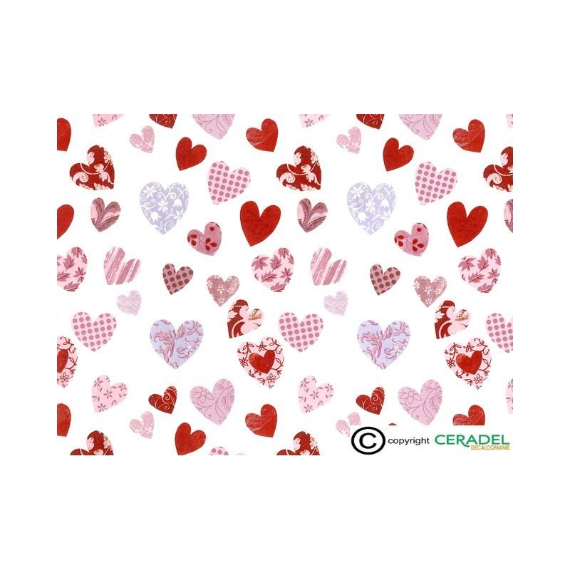 PATCHWORK HEARTS DIM.50X70cm