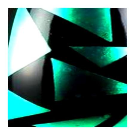 CHROMO DICHRO ROUGE-VERT DIM.10X10cm