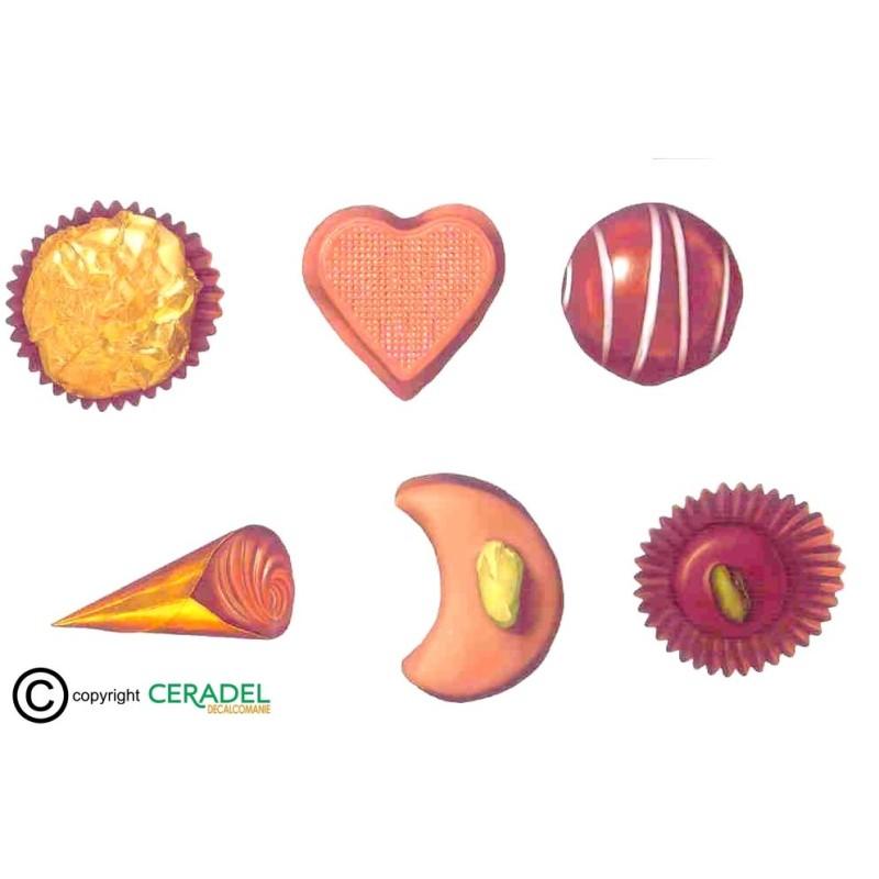 CHOCOLATS Série de 6 Motifs