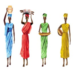 AFRICANS Série de 4 Motifs