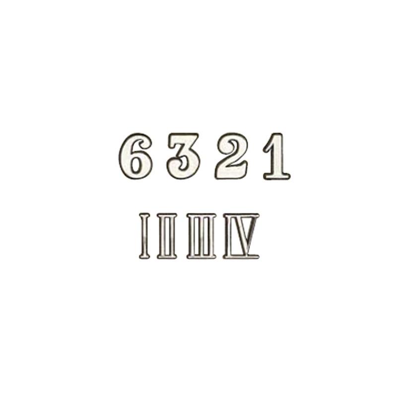 CHIFFRES ARABES/ROMAINS 10MM