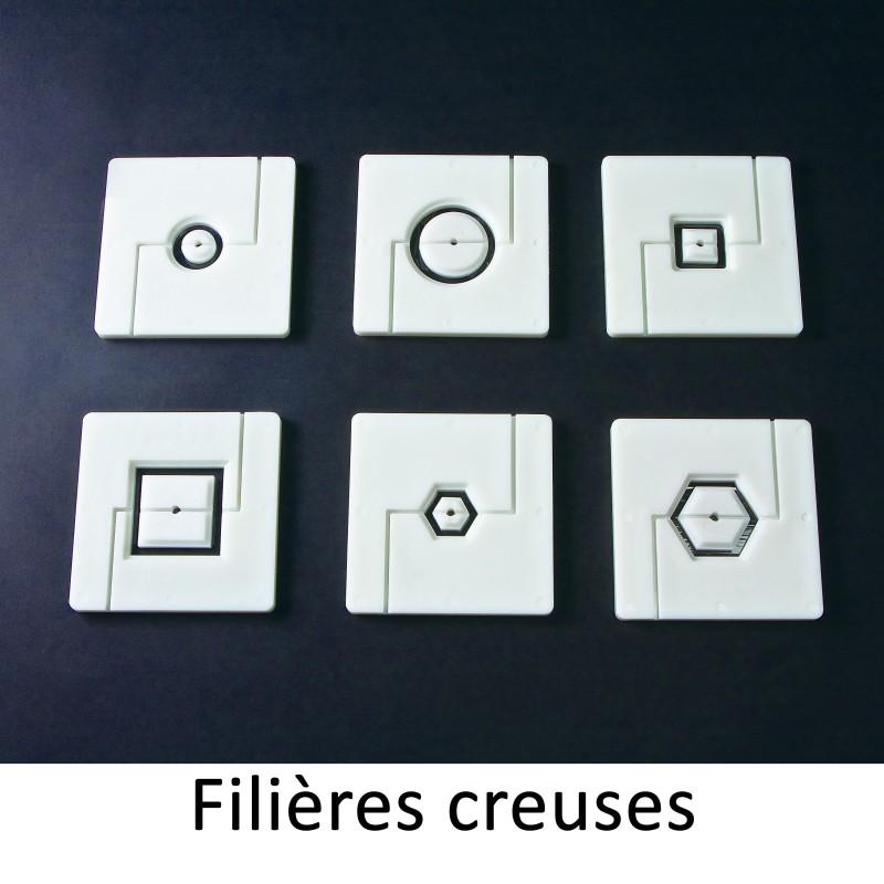 LOT DE 6 EMBOUTS CREUX POUR FILIERE 130