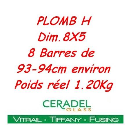 PLOMB H DIM.8X5 Kg**